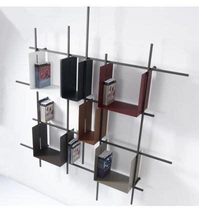 libreria acciaio libreria da parete libra2 in acciaio tubolare 160 x 180 cm