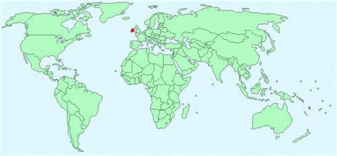 world map with ireland ireland facts and figures