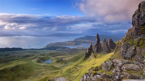 man  storr isle  skye scotland  hd desktop
