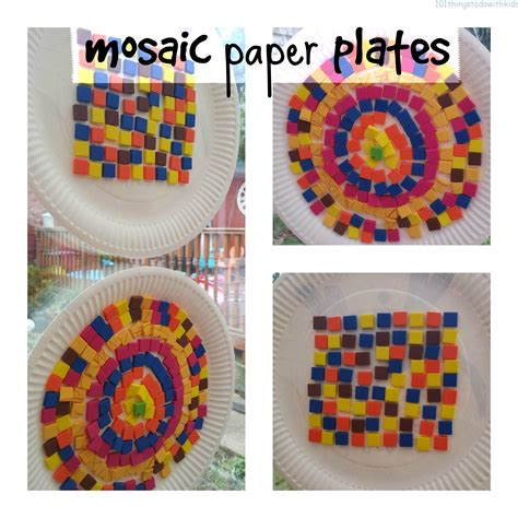 How To Make A Mosaic With Paper - mosaic paper plate 101 things to do with