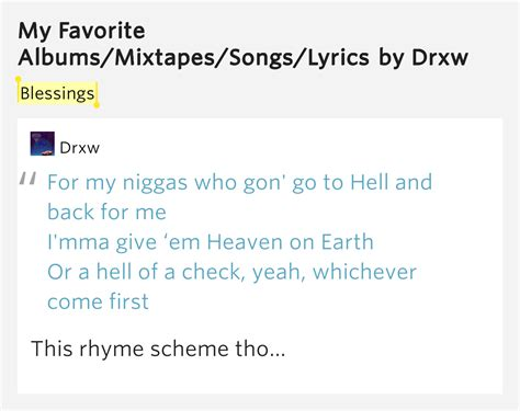 my lyrics meaning blessings my favorite albums mixtapes songs lyrics meaning