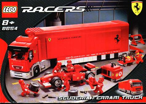 ferrari truck ferrari truck instructions 8654 racers