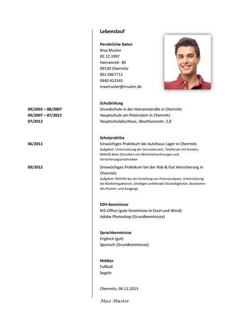 Aufbau Tabellarischer Lebenslauf 2014 mosatova lipamed schule und bildung