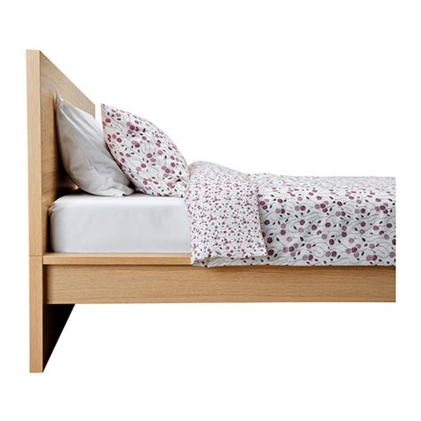 Malm Bed Frame High White Stained Oak Veneer Lur 246 Y Malm Bed Frame High
