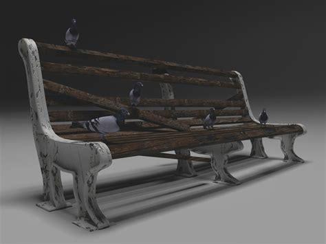 bench 3d model free old bench 3d model