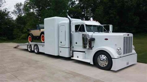 Semi Trucks With Custom Sleepers For Sale by Peterbilt 359 Custom Hauler 1979 Sleeper Semi Trucks