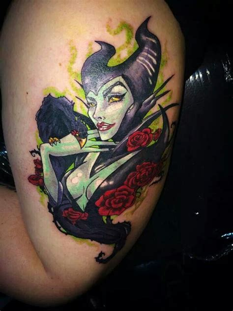 maleficent tattoo maleficent by factors inked colorful