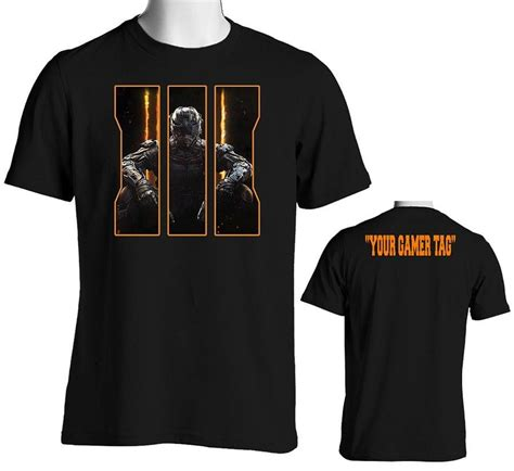 T Shirt Call Of Duty Best 01 call of duty black ops 3 t shirt with custom gamer tag on the back senseofcustom