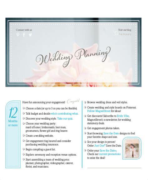 Magnetstreet Wedding Checklist by 6 Wedding Planner Printable Sle Exles In Word Pdf