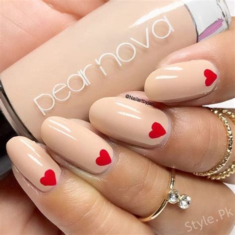 stylish cute valentines day nail art designs