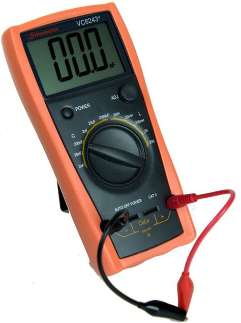 inductor measure multimeter sinometer vc6243 an l c meter dedicated to measure inductance and capacitance