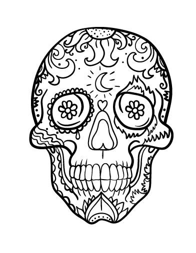day of the dead coloring pages pdf printable day of the dead dia de los muertos skull