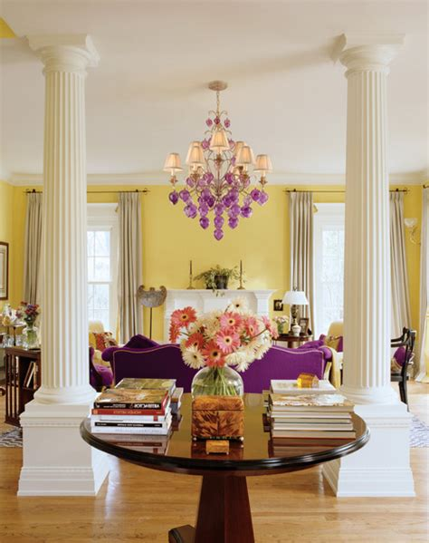 Living Room Purple Yellow Best Purple Paint For You Home