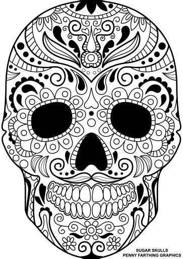 Skull Collage Design Outline by Sugar Skull Coloring Page Coloring Pages Malvorlagen F 228 Rben Und Totenk 246 Pfe