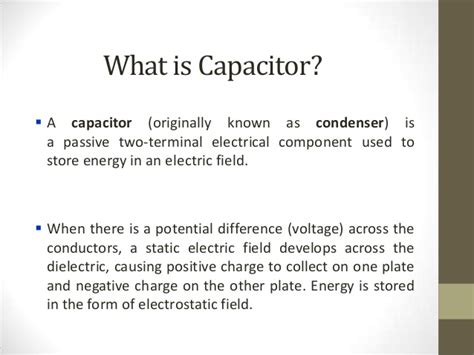 what is static capacitor supercapacitors