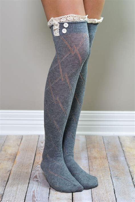 Lace Trim The Knee Boots best 25 boot socks with lace ideas on boot
