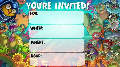 plants vs zombies invitation template musings of an average plants vs zombies invitations