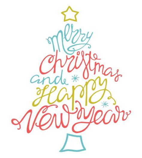 merry christmas  happy  year stock vector  alexvector