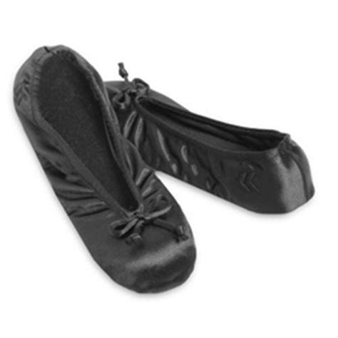 ballet house slippers ladies isotoner satin ballet style slippers black stretch soft gray suede sole ebay