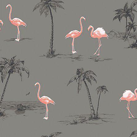 Flamingo Wallpaper Grey   1000 images about coastal wallpaper on pinterest
