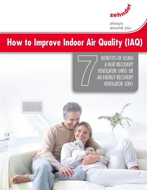 how to improve indoor air quality by zehnder america