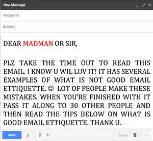 dear students teachers say email etiquette has room for