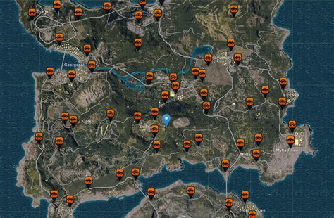 pubg loot map detailed pubgs loot maps cars locations weapons spawns