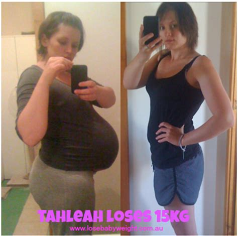 Mba 2012 Weight Kg by Lose Baby Weight How Tahleah Has Lost 15kg