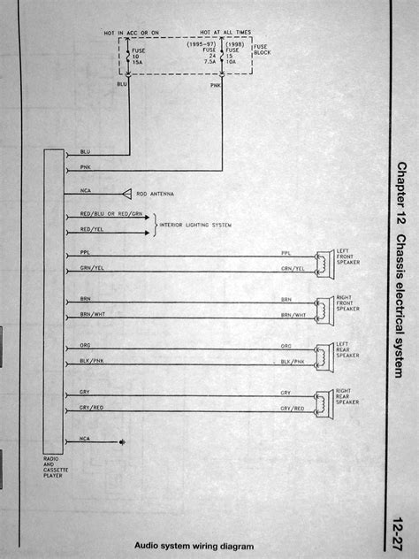 1991 nissan stanza radio wiring wiring diagram with