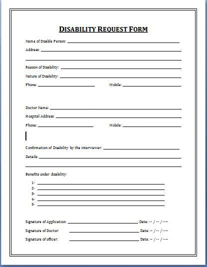 disability plan template form oktober 2015