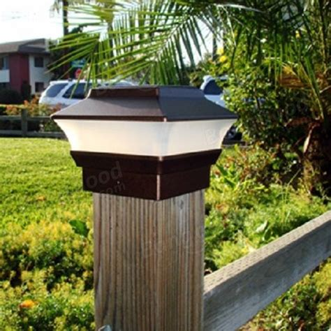 electric post cap lights led solar powered post cap light outdoor garden fence