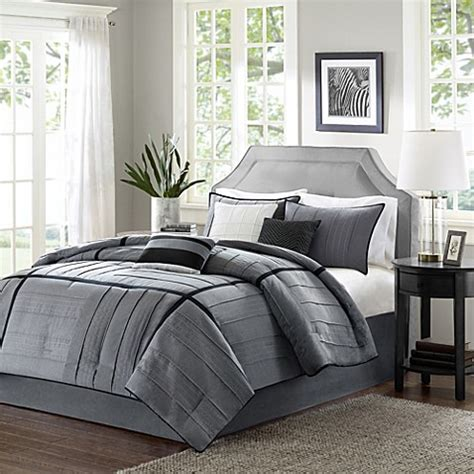 bed bath and beyond bedding sets buy madison park bridgeport collection 7 piece california