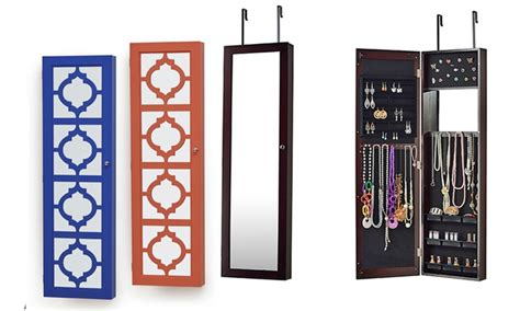 The Door Jewelry Armoire With Mirrored Front by Armoire Exciting The Door Jewelry Armoire Ideas