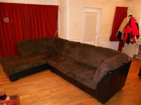leather and suede corner sofa for sale in newbridge
