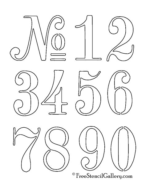free number templates to print numbers stencil pinteres