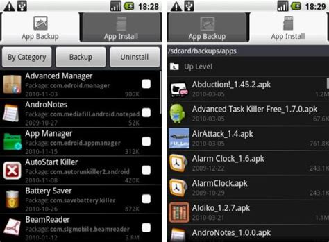 keeper app android application manager android app backup install uninstall apps with ease the android soul