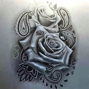 rose tattoo in chicano style