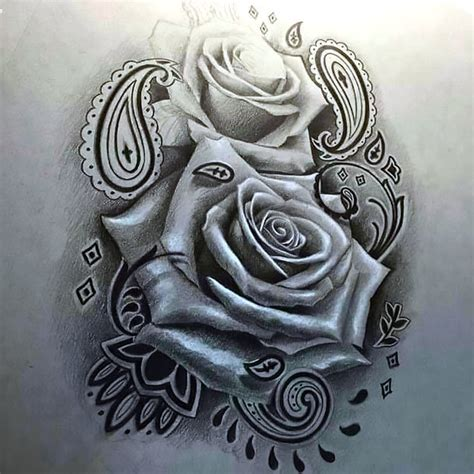 chicano hairstyle rose tattoo in chicano style
