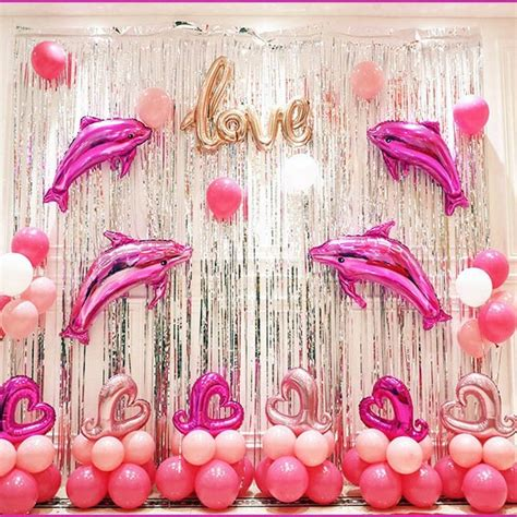 silver iridescent fringe foil curtain tassel