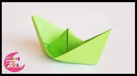 Le Origami - origami le petit bateau en papier pli 233
