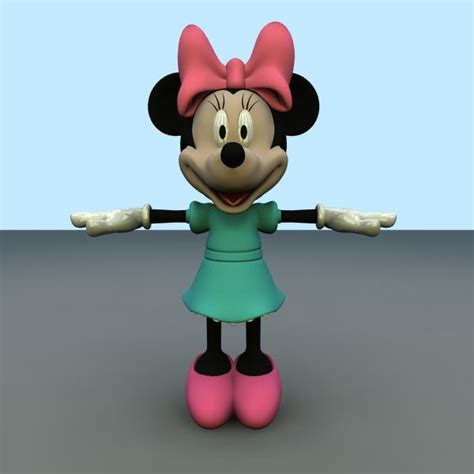 Cco 07 B Minnie Mouse 3d minnie mouse