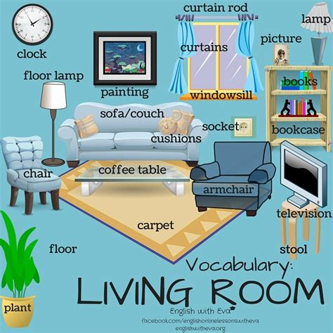 bedroom furniture vocabulary vocab living room 1 esl beginners
