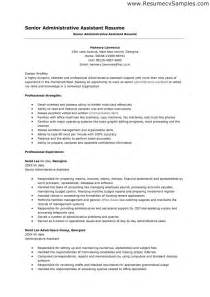 Business Administrative Assistant Sle Resume by Administrative Assistant Resume Objective Best Business Template