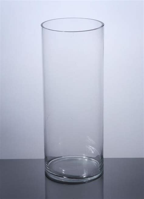 20 Cylinder Vase by Pc820 Cylinder Glass Vase 8 Quot X 20 Quot 4 P C Cylinder Glass
