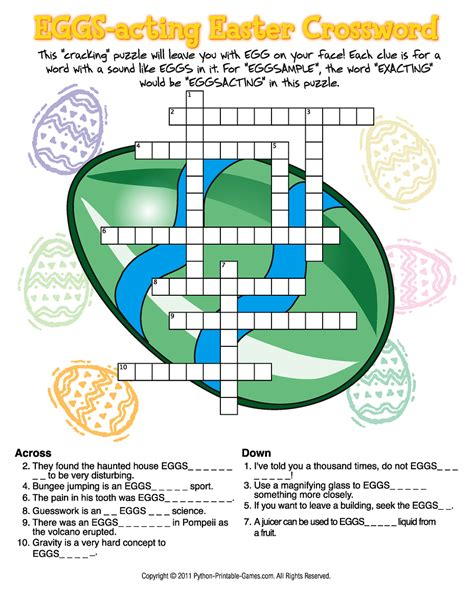 printable easter puzzle top 5 easter crosswords