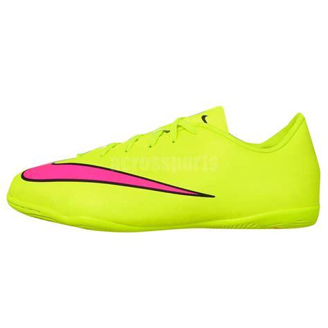 nike mercurial indoor soccer shoes for nike jr mercurial victory v ic junior volt pink 2015