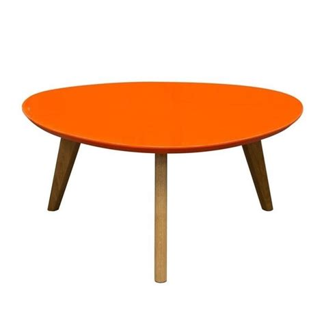 sofa mid century retro trio coffee table in orange