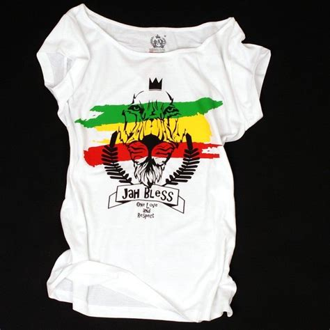 Kaosbajut Shirt Reggae Jah Bless You s 187 tops tees 187 t shirt jah bless one and respect white nuff respekt
