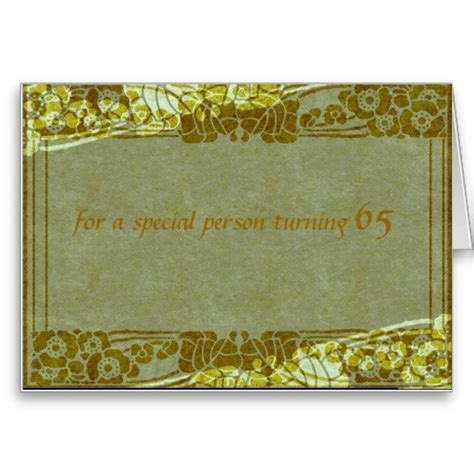 Birthday Card For A Special Person For A Special Person Turning 65 Birthday Card