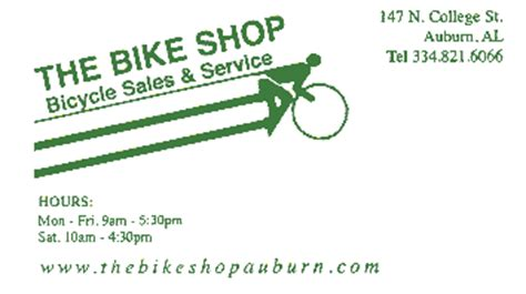 The Bike Rack Waterbury Ct by Bicycle Shop Business Cards